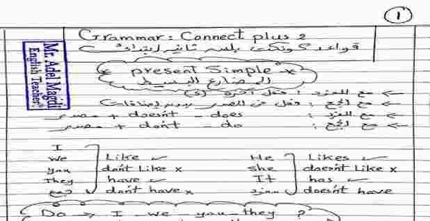 جرامر كونكت بلس للصف الثانى الابتدائى لغات ترم اول English Teacher Teacher Connect Plus