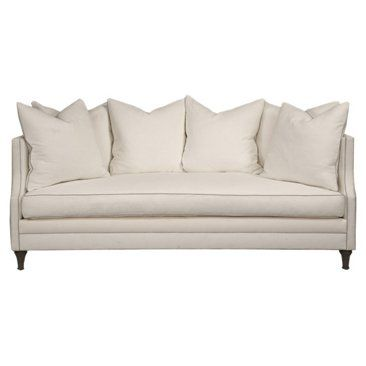 """Check out this item at One Kings Lane! Dumont 85"""" Sofa, White"""