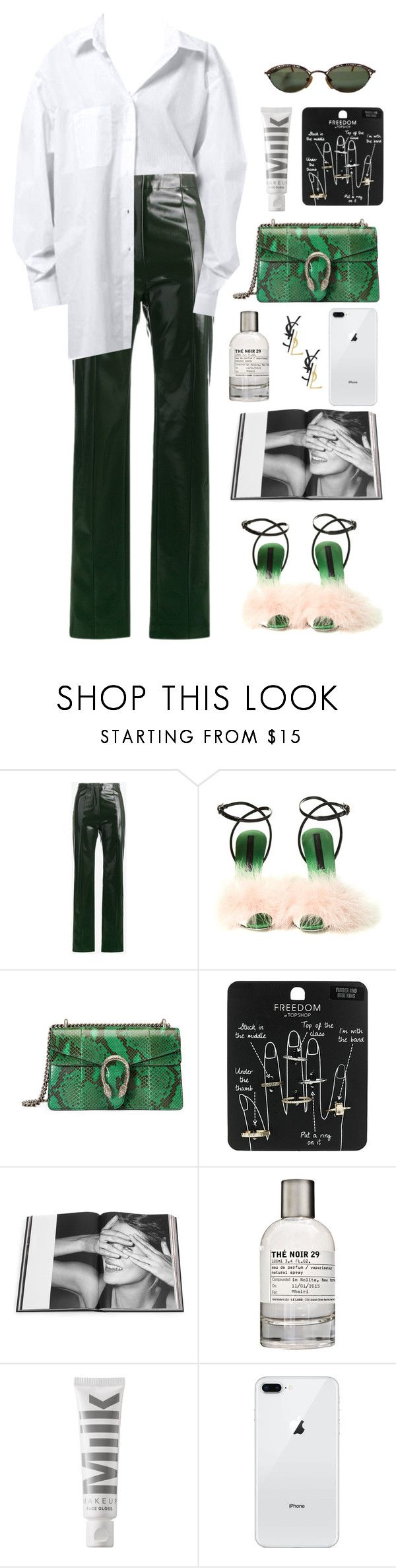 """the 19th"" by millicent4 ❤ liked on Polyvore featuring Acne Studios, Marco de Vincenzo, Gucci, Topshop, Rizzoli Publishing, Le Labo, MILK MAKEUP, Jean-Paul Gaultier and Yves Saint Laurent"