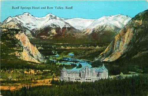 Banff Alberta Canada 1929 Bow Valley Banff Springs Hotel Vintage Postcard | eBay