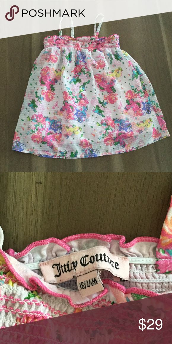 Juicy Couture Baby Smocked Dress Juicy Couture size 18/24 months dress Juicy Couture Dresses