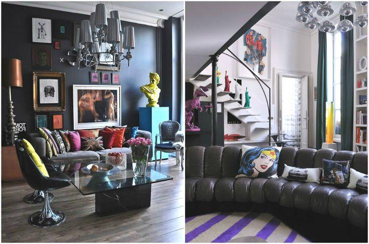 Современный интерьер в стиле поп-арт #interior #мебель #дизайн #интерьер #дом #уют #декор