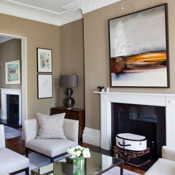 A Mocha Coloured Sitting Room From 5 Interior Design Trend 2019 At Scenetherapy Com Taupe Living Room Taupe Walls Living Room Living Room Color #taupe #walls #living #room