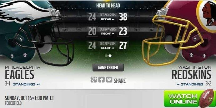 http://eaglesvsredskinslive.us    Eagles vs Redskins Live
