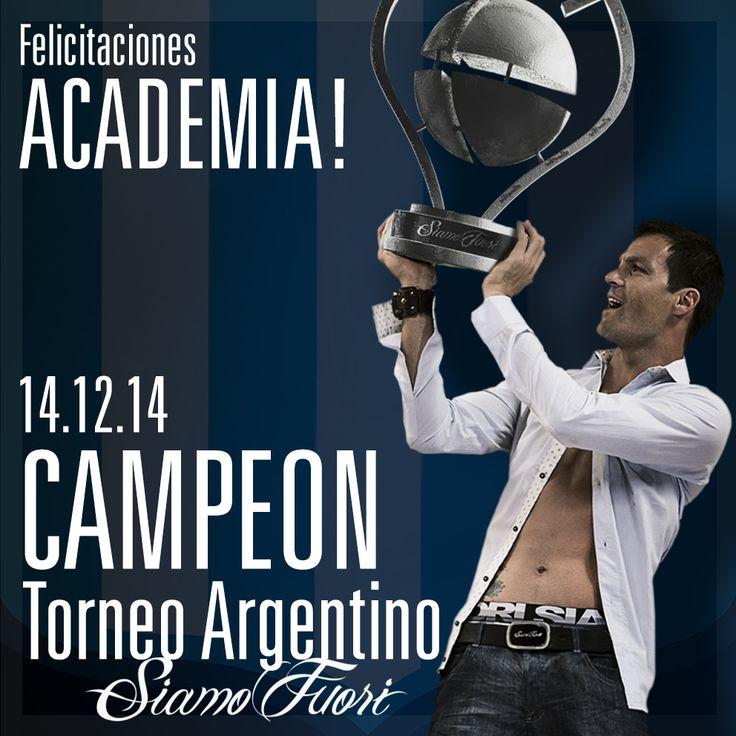 #SIAMOFUTBOL Grande ACADE!  Campeón Torneo de Primera División «Dr. Ramón Carrillo» 2014. Sebastian Saja, arquero del flamante campeón. http://tinyurl.com/pzlsu2a