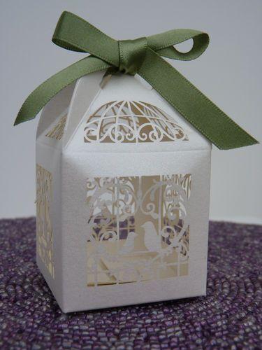 Vintage Birdcage Wedding Favour Boxes