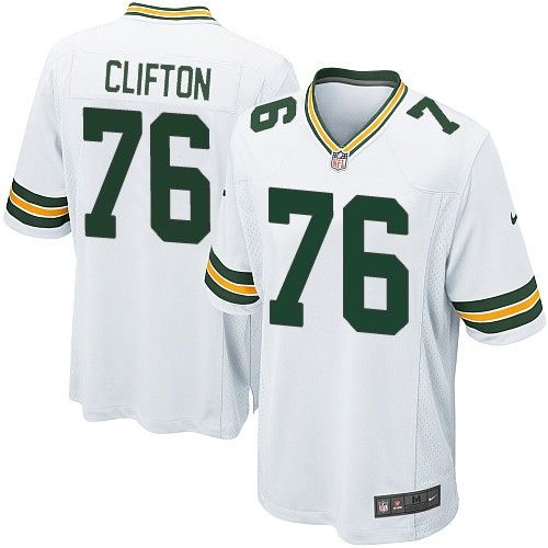 nike elite green bay packers chad clifton 76 white nfl jersey for sale sale