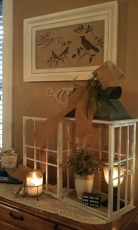 love the window lantern housechange decor inside for any season