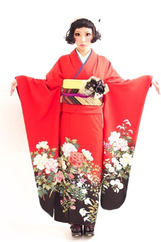 Graduation ceremony kimono rental. Hair by Tsurezure Takashima Dali Hair Design