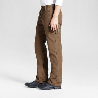 Dickies Men's Relaxed Straight Fit Canvas Flannel-Lined Carpenter Jean- Timber 30x30