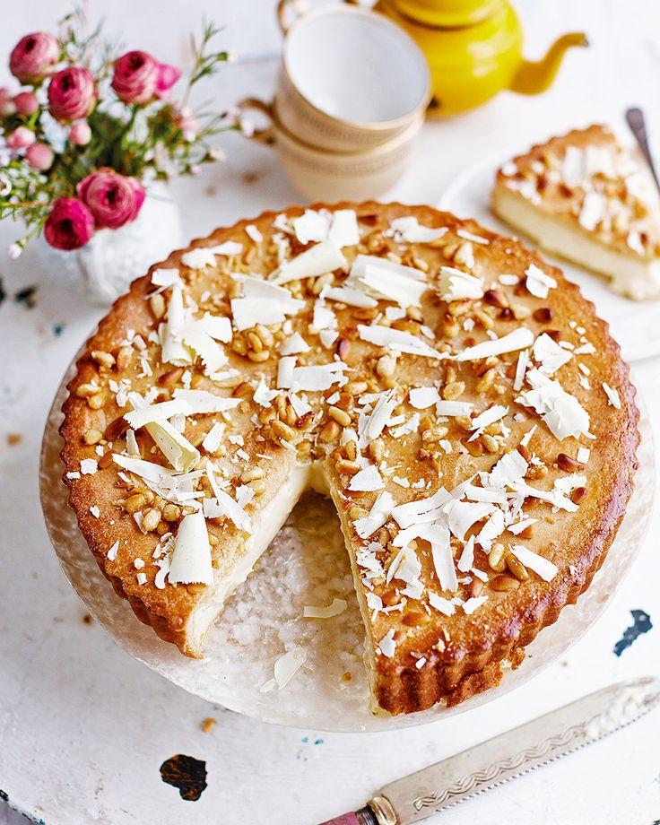 Eleonora Galasso's take on her Italian grandma's custard pie (also known as torta della nonna) encases a rich white chocolate…
