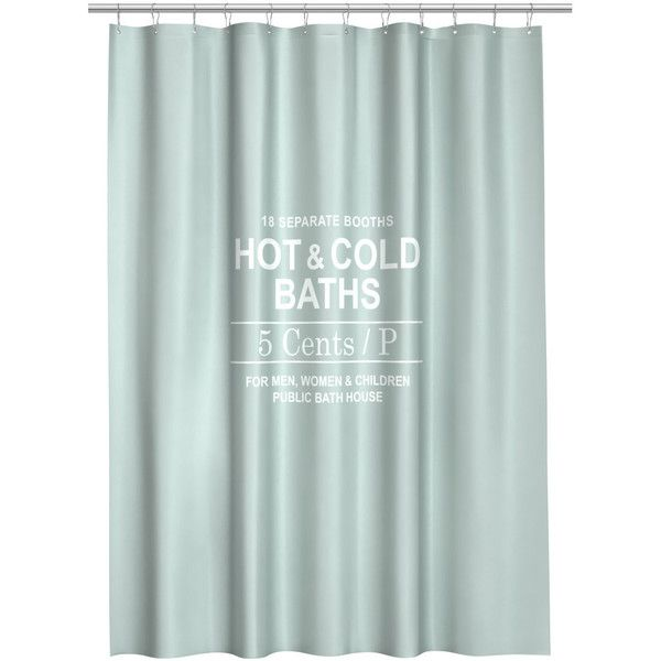 H&M Shower curtain (30 CAD) ❤ liked on Polyvore featuring home, bed & bath, bath, shower curtains, mint green and h&m