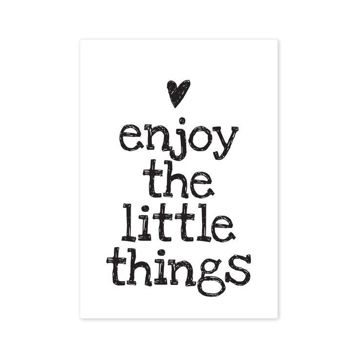 Carte postale Enjoy the little things