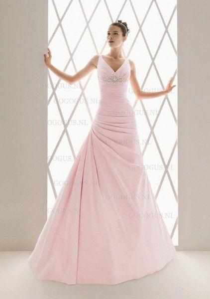 Geweldige roze jurk
