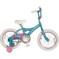 """Kent Girls Cupcake Bike (16-Inch Wheels) by Kent. $89.94. Girls 16"""" CupCake Bike. 20 GIRLS CUPCAKE BIKE - High tensile steel frame and fork. Four bolt alloy cap stem. 16 28 spoke rims. Handlebar safety pad. Coaster brake. Freestyle tires. Alloy quick release clamp. Training wheels with bracelet and arms. Limited frame warranty"""