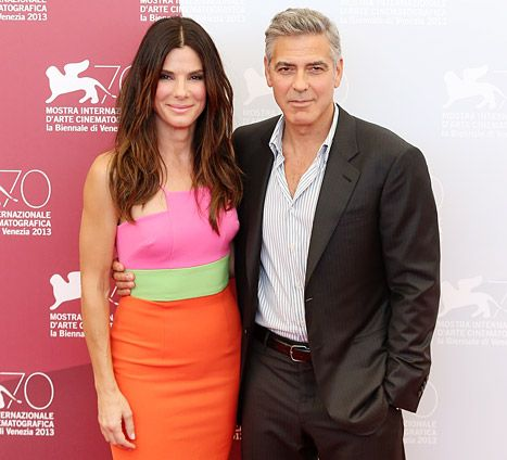 "Sandra Bullock says her son Louis, 3, has ""man time"" with George Clooney"