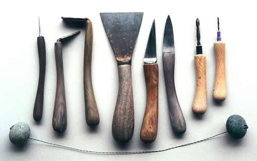 Chris Weaver, New Zealand Potter, makes his own luscious tools that are a piece of art themselves.  Inspiring, no?