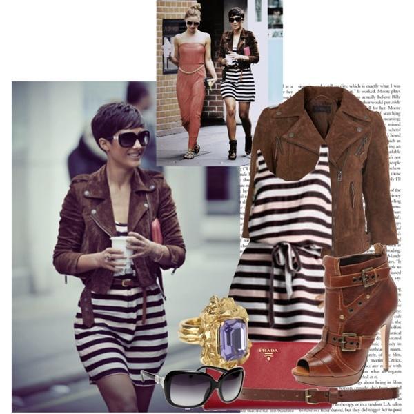 Frankie Sandford; jacket and dress! frankie-sandford-style-inspiration: Casual Fashion, Celebrity Style, Style Inspiration, Carovillarruel, Random Polyvore, Hair Sooo, Frankie Sandford Style, Hair Style, Style Clothing Shoes Etc