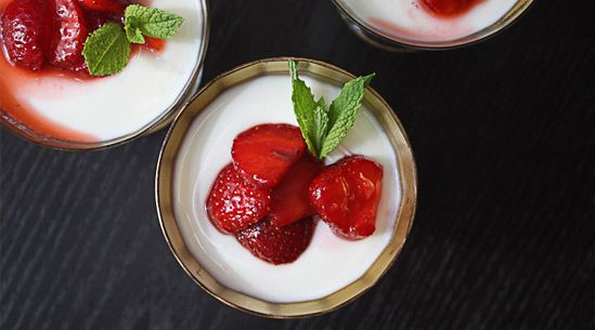 Panna Cotta w/ goat's milk yogurt