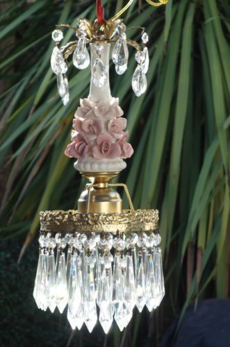 1000 Images About Vintage Crystal Prism Lamps On Pinterest Oil Lamps Chandelier Crystals And