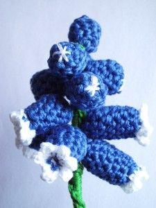 CROCHET PATTERNS (Pattern #71 Grape Hyacinth * Muscari) -Crochet & Knit Design Heaven