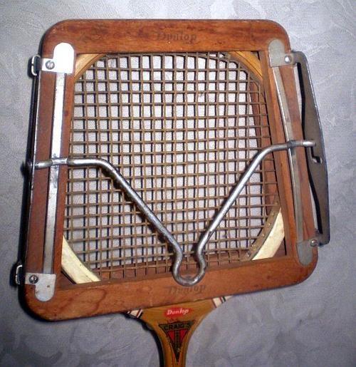 Wood Racquet brace.