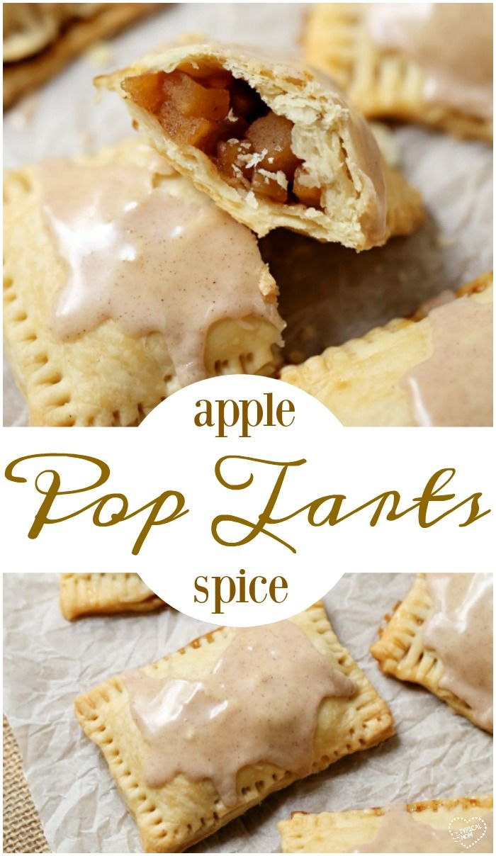Homemade pop tarts recipe that is easy and tastes amazing made from scratch!! Use this simple baked apple filling recipe or another flavor. via @thetypicalmom