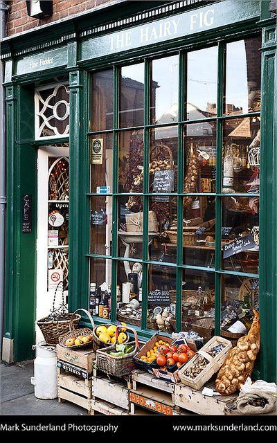 The Hairy Fig Delicatessen on Fossgate, York, Yorkshire England