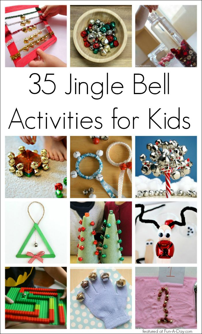 35 Jingle Bell Christmas Activities for Kids - sensory play, music, math, crafts, and more