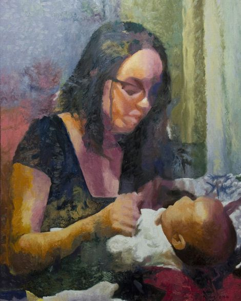 Kenneth Young, In Mother's Arms on ArtStack #kenneth-young #art