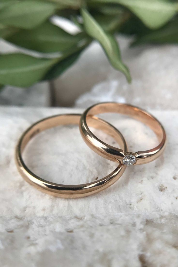 His and Hers Wedding Rings, His and Her Promise Rings, Matching Wedding Bands, Couples Ring Set