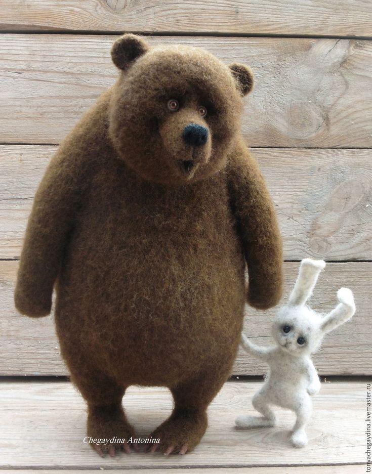 Картинка зайка и медведь