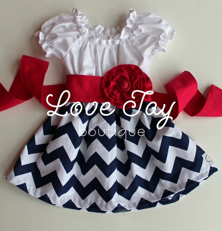 """Girls Cheveron Peasant style dress """"You choose color"""" boutique hand made 6-9 month to 5T...Love Tay Boutique. via Etsy. SO CUTE!"""