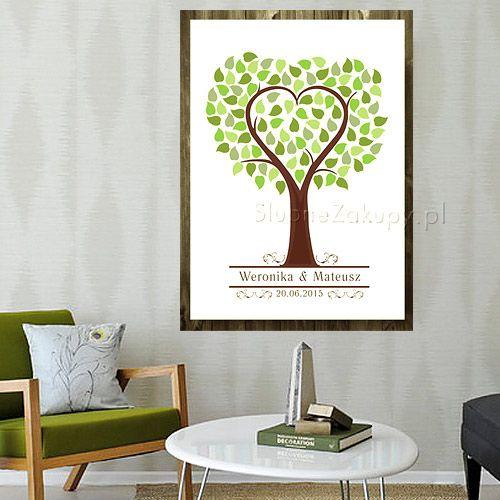 KSIĘGA GOŚCI personaliz. Serce w Drzewie 50cmx70cm