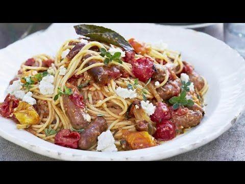 Джейми Оливер - Паста с пряными колбасками.