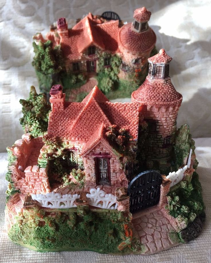 Hand-painted Resin Miniature Nice House Ornaments (Large) | eBay