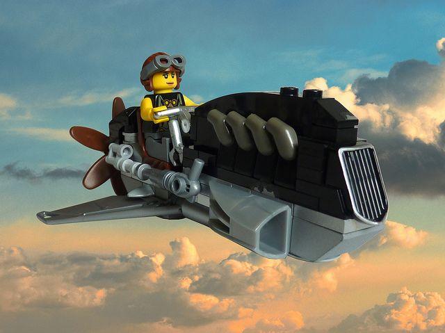 Lego Dieselpunk - Awesome!: Lego Dieselpunk, Skybike, Called Lego, Lego Creation, Lego Awesome, Lego Inspiration, Dieselpunk Lego, Photo