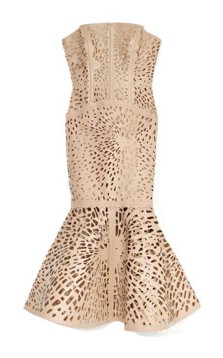DESIGNER: GILES SEE DETAILS HERE:Laser-Cut Leather Bustier Dress