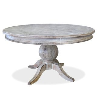 U0027La Franceu0027 Round Distressed Dining Table | Overstock.com Shopping   Great  Deals