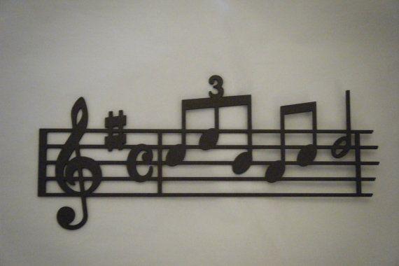 Portée musicale quelques notes de musique par Decosiluetas sur Etsy