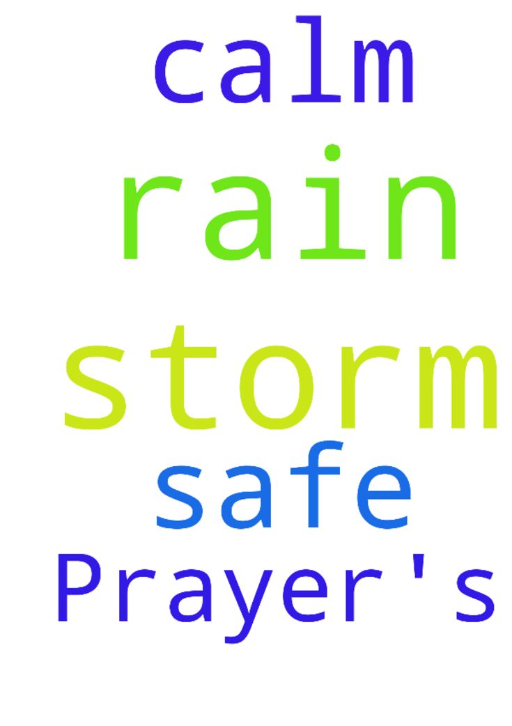 Prayer's -  God, Thank you for the rain. God, I pray we are all safe during the storms. God, I pray you will calm the storm and let it rain. God, Thank you. God, In Jesus name, I pray Amen  Posted at: https://prayerrequest.com/t/ppH #pray #prayer #request #prayerrequest