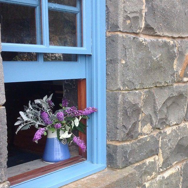 Freshly painted blue windows @ little bluestone cottage #portfairy #summerdays by flowstyling http://ift.tt/1UokfWI