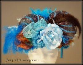 dameshoed aqua/bruin   hoeden carnaval   btstyling