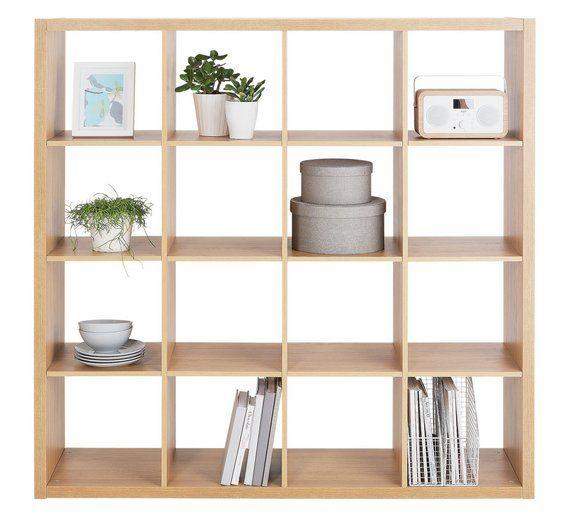 buy hygena squares plus 16 cube storage unit oak effect. Black Bedroom Furniture Sets. Home Design Ideas