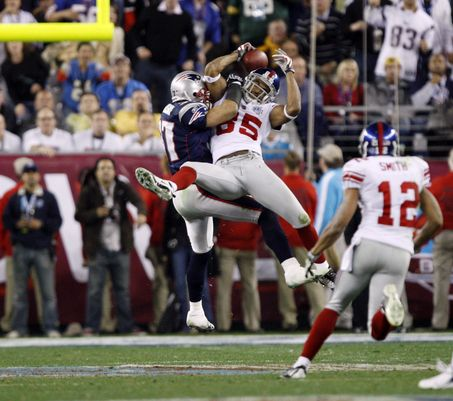 Probably the most remarkable catch in Super Bowl history.
