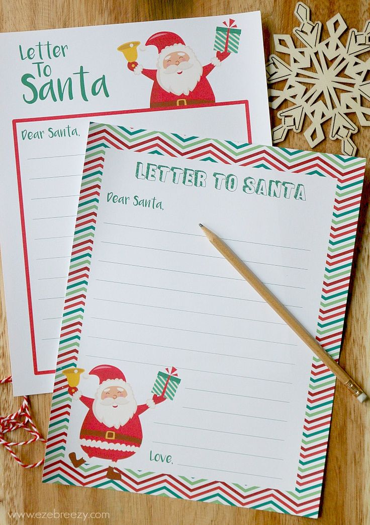 Best  Letter To Santa Template Ideas On   Letter To