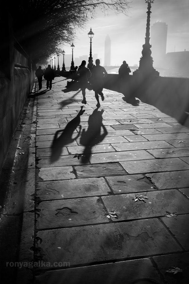 'Run when you can, walk if you have to, crawl if you must; just never give up.' © Ronya Galka #streetphotography #london