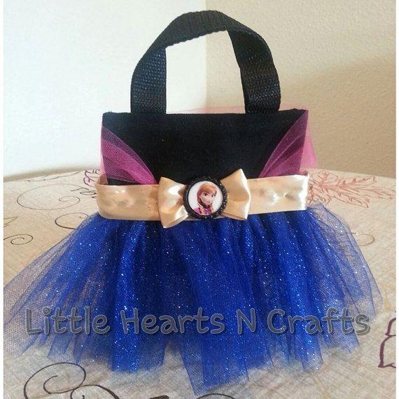 Anna Frozen Princess Inspired Tutu Purse by LittleHeartsNCrafts