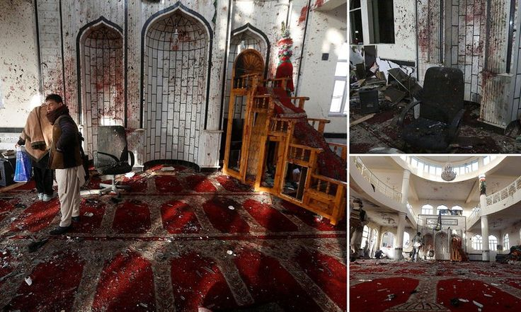 ISIS suicide attack on a packed mosque in Kabul leaves 56 dead