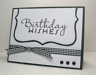 Birthday Wishes #stampin' up! card #top note